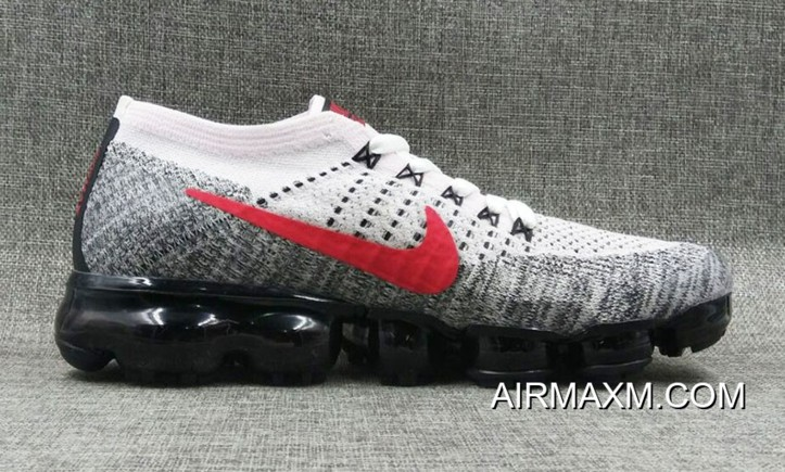 reputable site 73a11 6e7c6 Latest Nike VaporMax Flyknit White Black Red