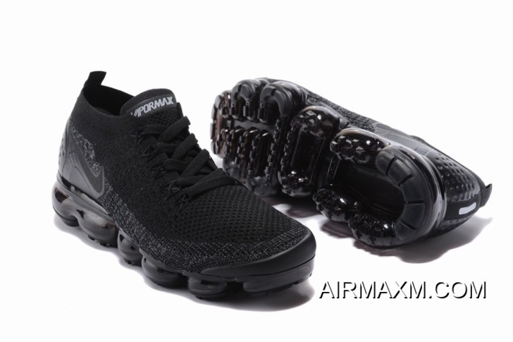 finest selection b5727 05902 Nike Air VaporMax Flyknit 2 All Black Women Authentic