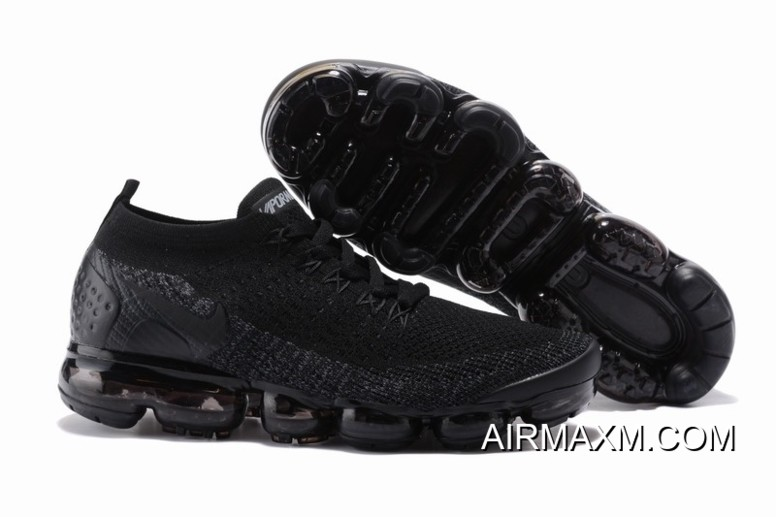 finest selection e9d80 8ed67 Nike Air VaporMax Flyknit 2 All Black Women Authentic