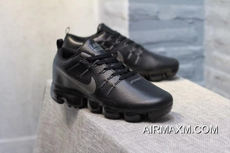 17a7f6dcb0 Nike Air VaporMax Leather Black Silvery Big Discount, Price: $95.62 ...