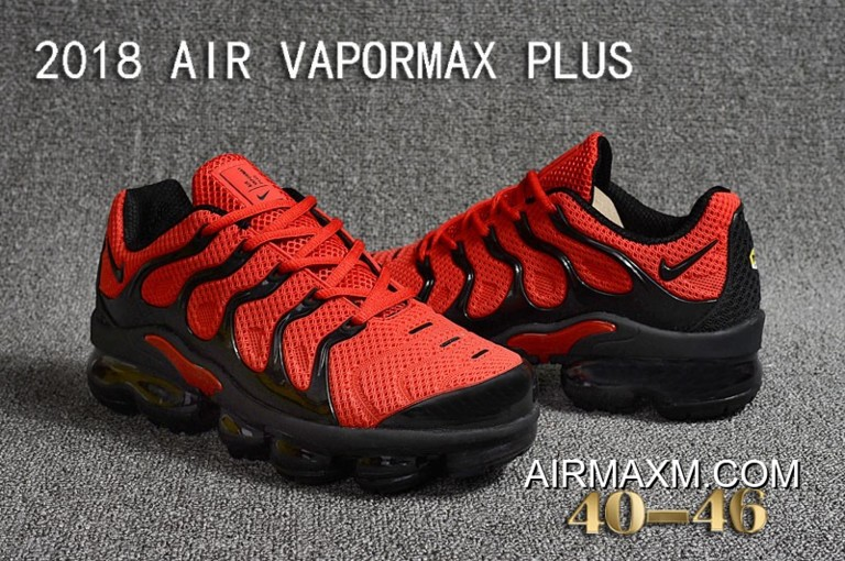 6f5225d4d00 Latest Nike Air VaporMax Plus KPU Red Black
