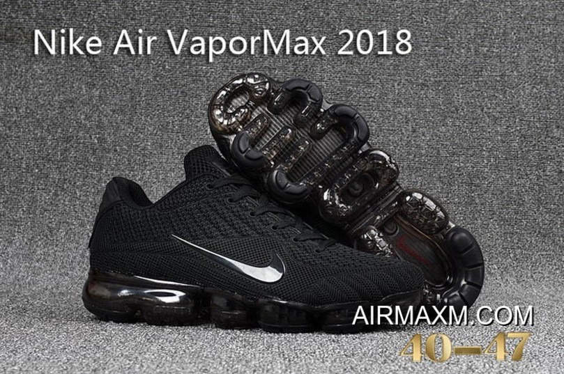 official photos 7512a 888c6 Latest Nike Air Vapormax 2018 ALL Black Running Shoes