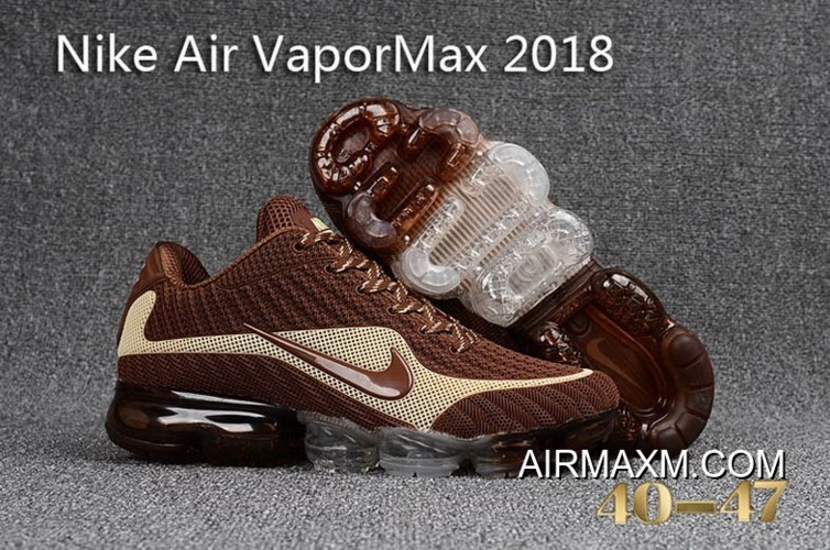 san francisco 63932 2917d Shop Nike Vapormax 2018 Brown White Running Shoes New Release