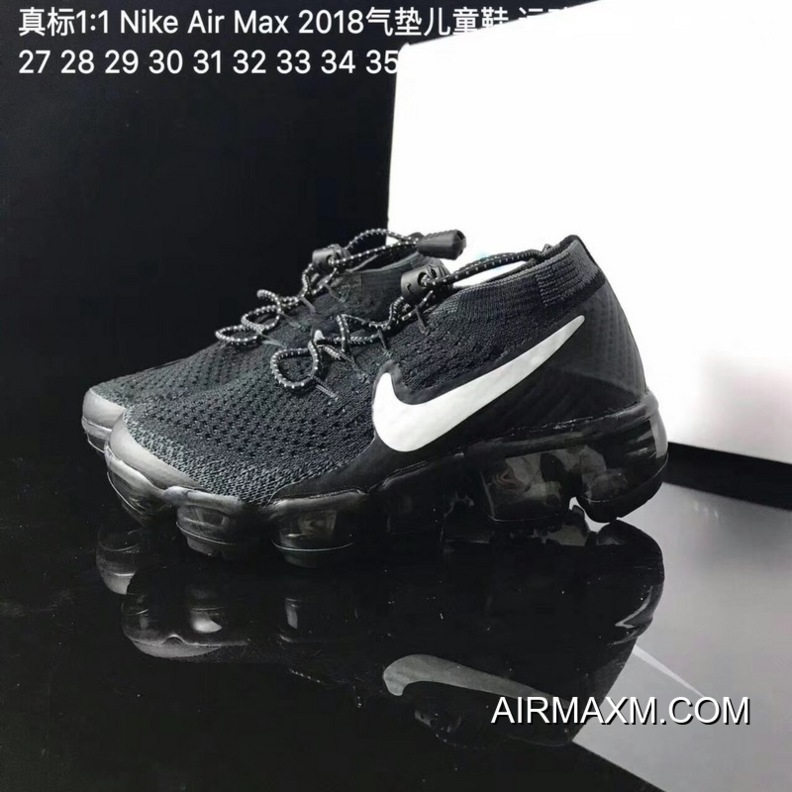 best service a204b d6e89 Big Deals Kids Nike Air VaporMax 2018 Flyknit Running Shoe SKU:134476-222