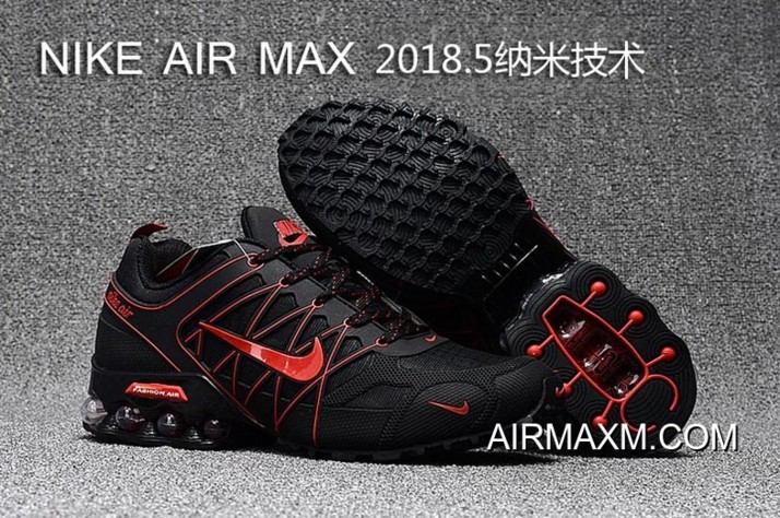 timeless design 8504f e55c9 Online Nike Air Max 2018 Black Red Running Shoes