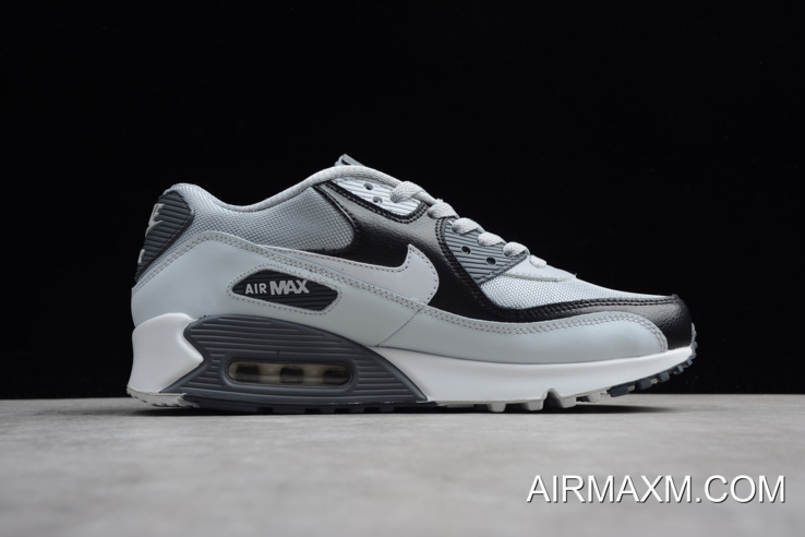 WomenMen New Style Nike Air Max 90 Essential Wolf GreyWhite Pure Platinum 537384 083