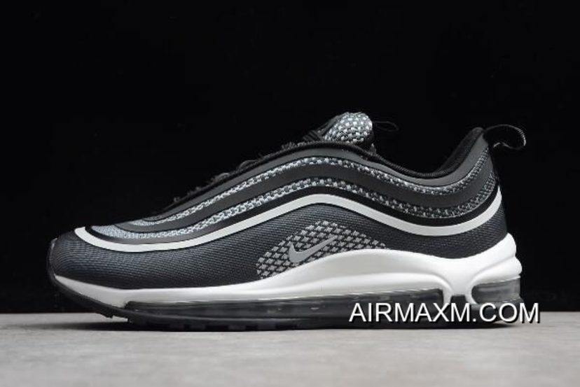 WomenMen Nike Air Max 97 Ultra '17 BlackPure Platinum Anthracite 917704 003 Free Shipping