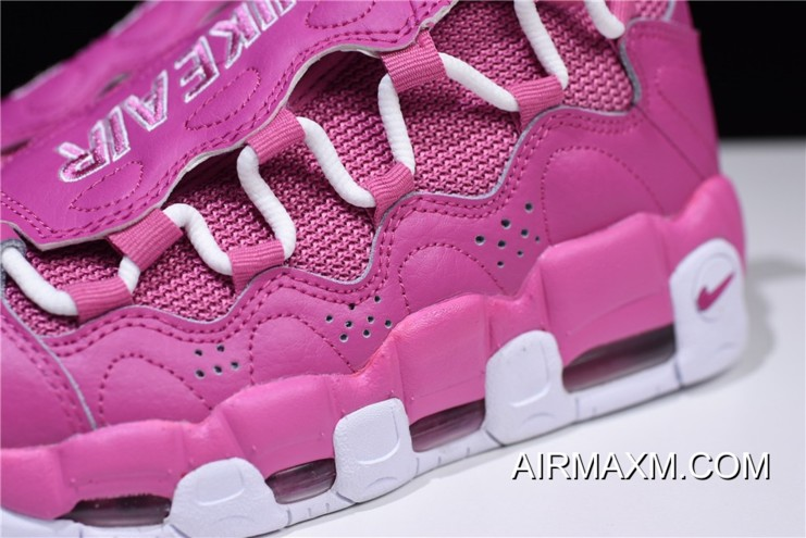 "6570c42b6e8 Women Men Sneaker Room X Nike Air More Money QS ""Breast Cancer Awareness"""