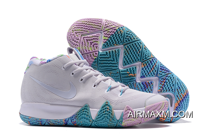 "outlet store 5afeb 1e5ad Latest Nike Kyrie 4 ""Easter"" White/Multicolor"