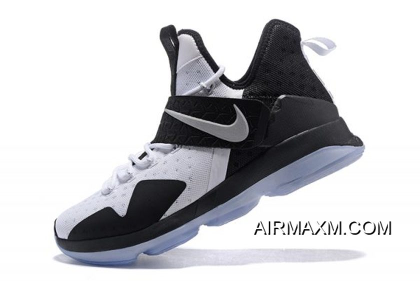quality design f5d36 cab6c Nike LeBron 14 White/Black Men's Basketball Shoes Best