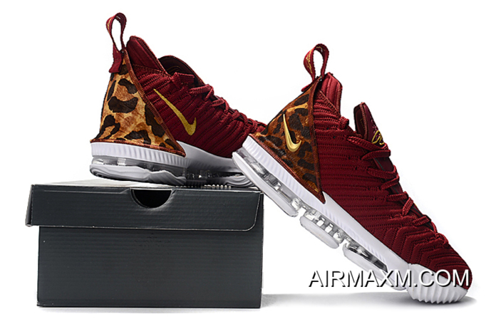 "Latest Nike LeBron 16 ""King"" Team Red/Metallic Gold-Multi Color AO2588-601"