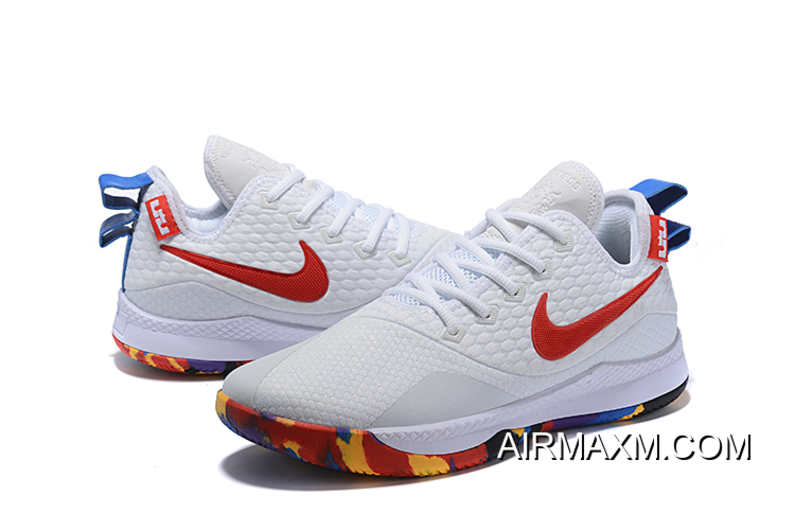 "9a65f12860c Super Deals Nike Lebron Witness 3 ""March Madness"" White Multi-Color ..."