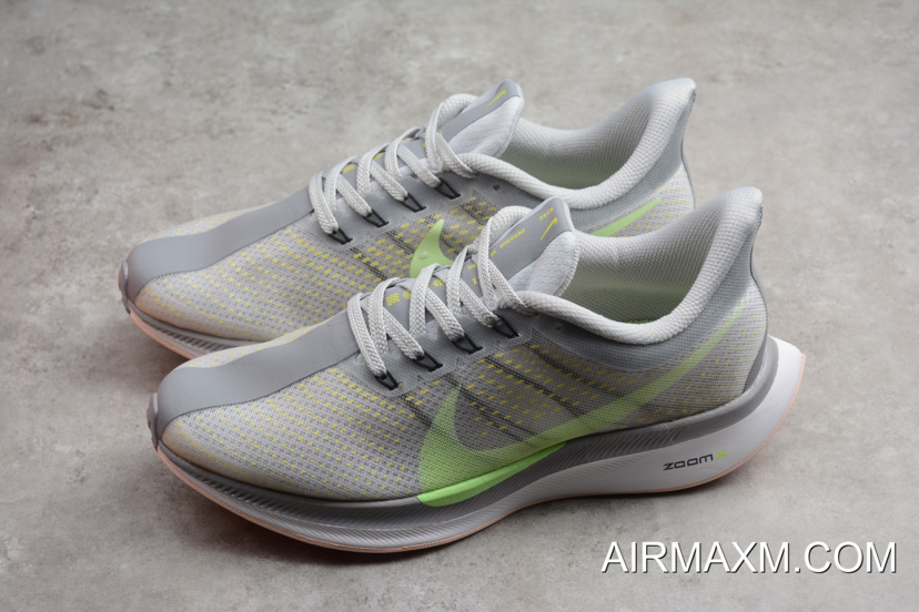 4ed29ee8f70c Women Men Nike Air Zoom Pegasus 35 Turbo 2.0 Light Grey Green AJ4115 ...