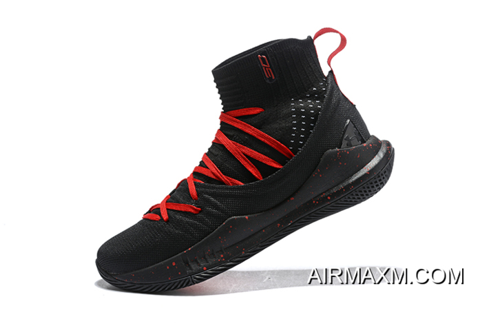 433171ca0d8 Under Armour Curry 5 Black Red Men s Basketball Shoes Best