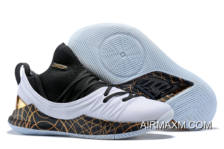"newest 3085b 59799 UA Curry 5 ""Copper"" Black White-Copper Stephen Curry Shoes New Release"
